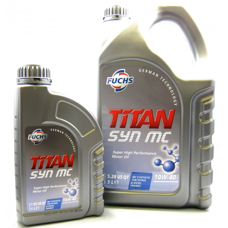 Fuchs titan syn mc 10w 40 high performance semi synthetic for Which motor oil is thicker