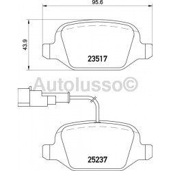 Mito Rear Brake Pads (With Sensor)