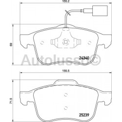 Giulietta - Front Brake Pads (Standard)