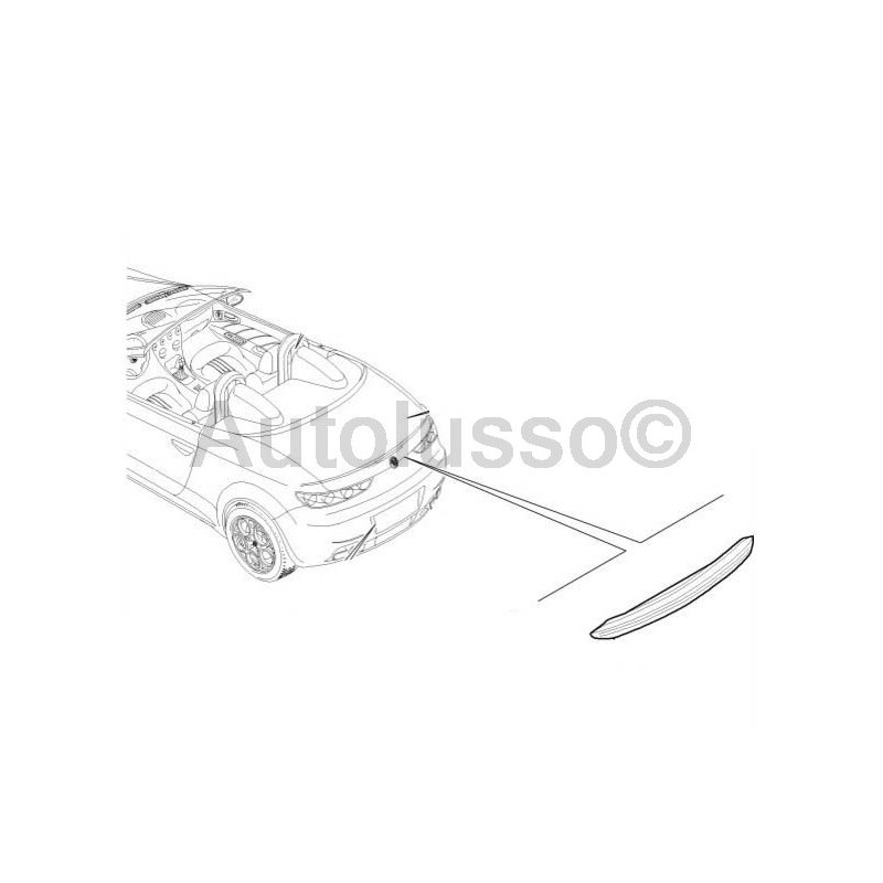 high level brake light for alfa romeo 839 spider and 4c