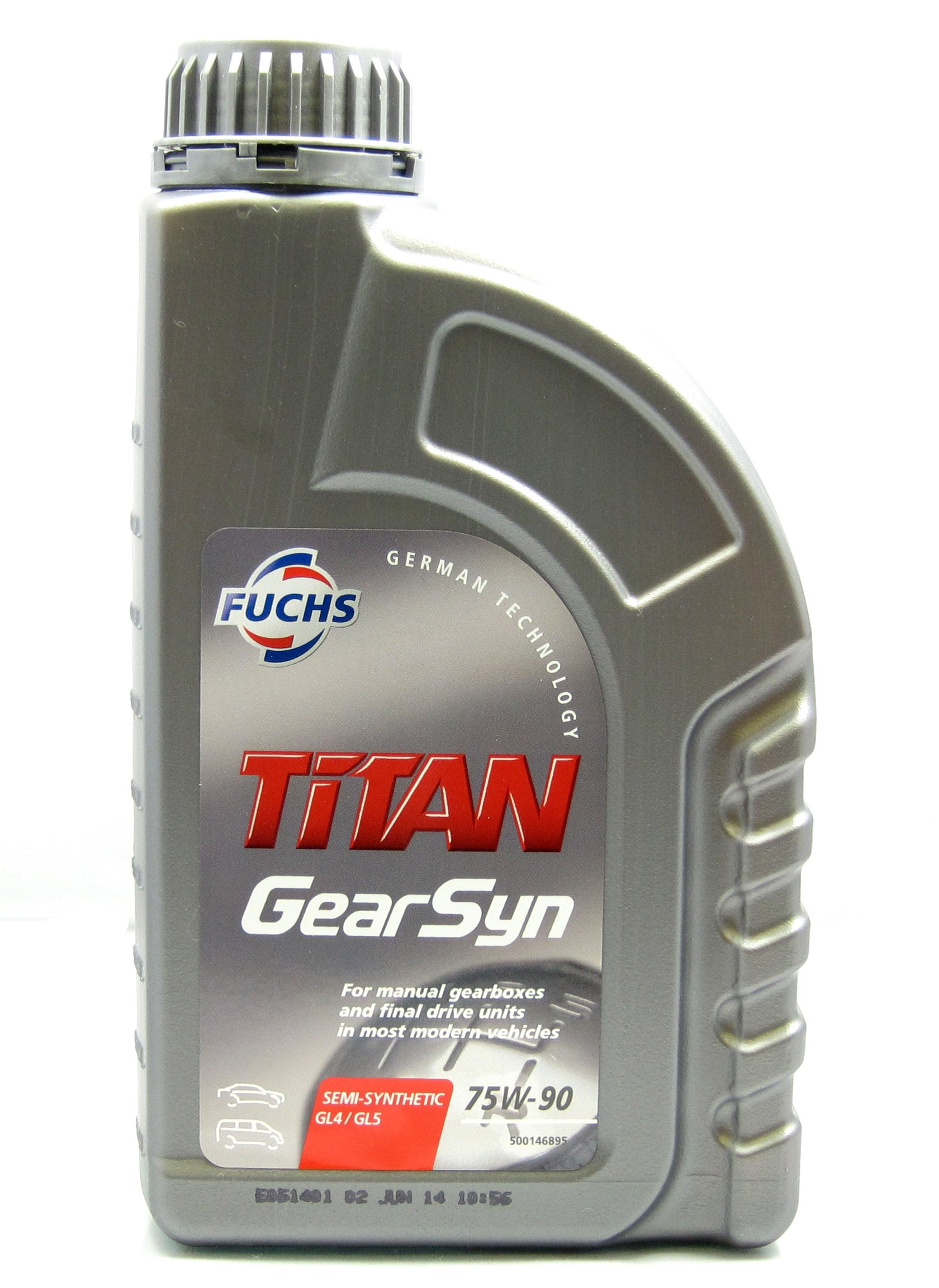 Fuchs Titan Gear Syn 75w 90 Semi Synthetic Manual Gearbox Oil Alfa 147 Autolusso New Romeo Parts